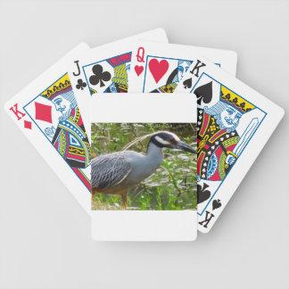 Yellow Crown Night Heron Bicycle Playing Cards