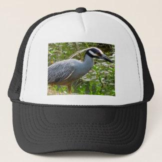 Yellow Crown Night Heron Trucker Hat