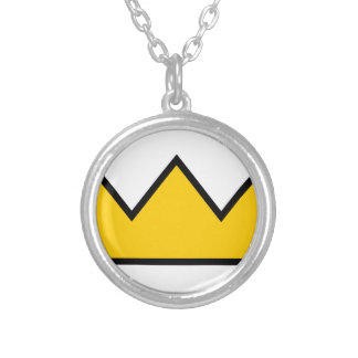 Yellow Crown Silver Plated Necklace