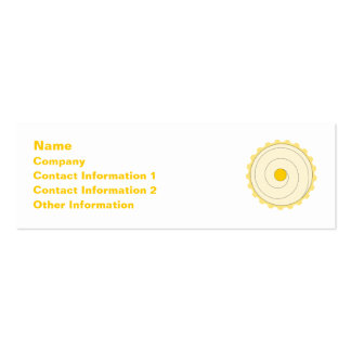 Yellow Cupcake. Iced cake. Pack Of Skinny Business Cards