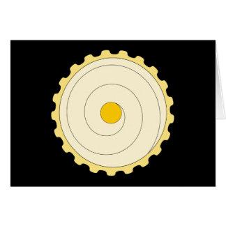 Yellow Cupcake. Iced cake. Greeting Card