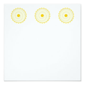 Yellow Cupcake. Iced cake. 13 Cm X 13 Cm Square Invitation Card