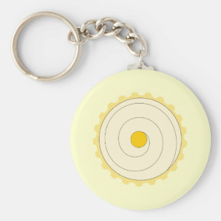 Yellow Cupcake. Iced cake. Keychain