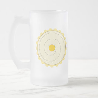 Yellow Cupcake. Iced cake. Frosted Glass Mug