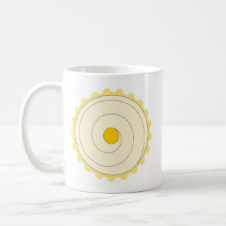 Yellow Cupcake. Iced cake. Coffee Mug