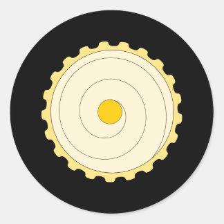 Yellow Cupcake. Iced cake. Sticker