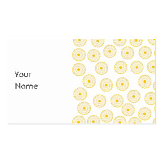 Yellow Cupcake Pattern. Business Card Template