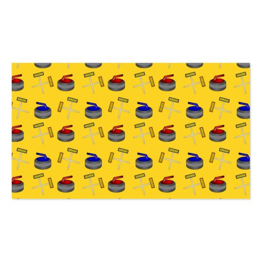 Yellow curling pattern business card templates