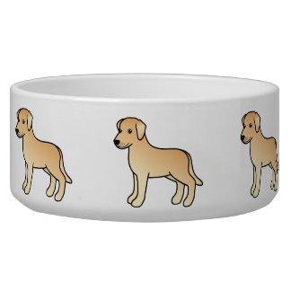 Yellow Cute Labrador Retriever Dogs Pet Food Bowl