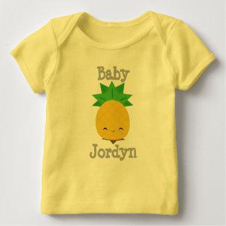 Yellow Cute Pineapple Baby Fine Jersey T-shirt
