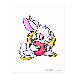 Yellow Cybunny hugging Negg Postcard