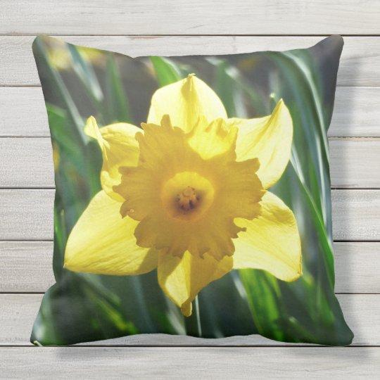 Yellow Daffodil 02.0 Throw Pillow