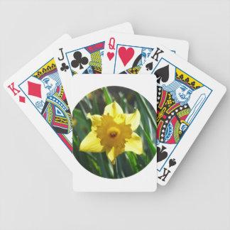 Yellow Daffodil 02.2_rd Poker Deck