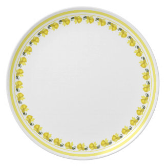 Yellow Daffodil - Floral Photography Cut Out Party Plates