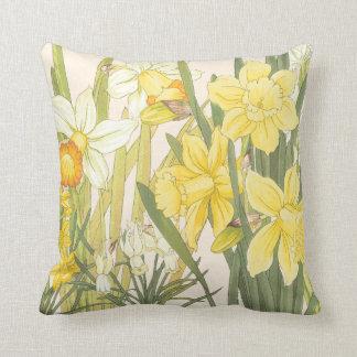 Yellow Daffodills Cushion
