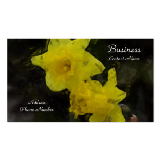 Yellow Daffodils Floral Impressionist Painting Pack Of Standard Business Cards