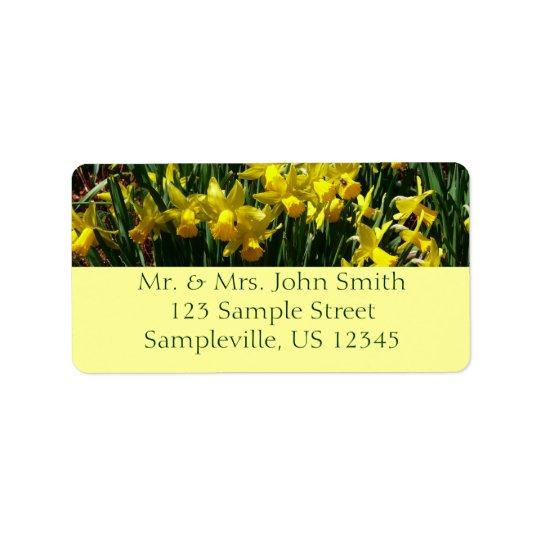 Yellow Daffodils I Cheery Spring Flowers Address Label