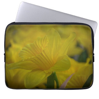 Yellow daffodils laptop sleeve