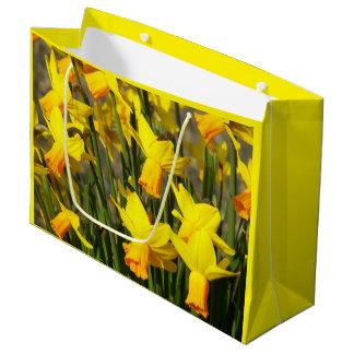 Yellow Daffodils Photo Large Gift Bag
