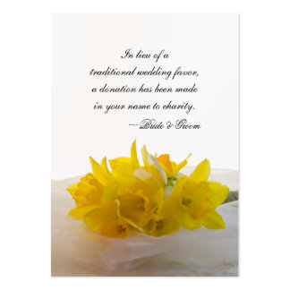 Yellow Daffodils Wedding Charity Favor Card Pack Of Chubby Business Cards