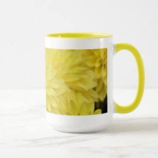 Yellow dahlia mug