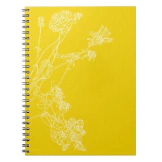 Yellow Dahlias Spiral Note Books