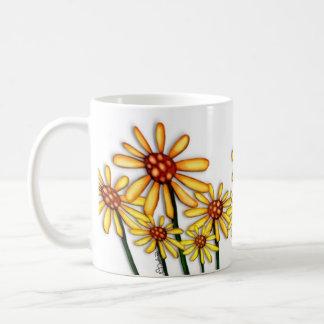 Yellow Daisies Basic White Mug