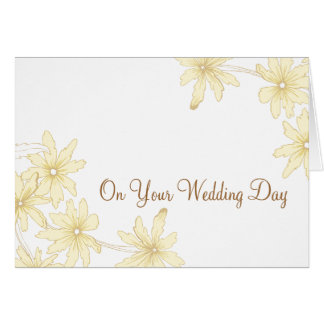 Yellow Daisies Blended Family Wedding Greeting Card