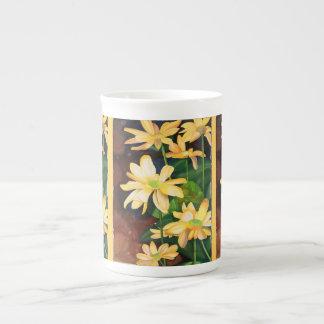 Yellow Daisies bone china Tea Cup