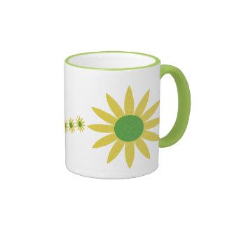 Yellow Daisies Coffee Mug Ringer Mug