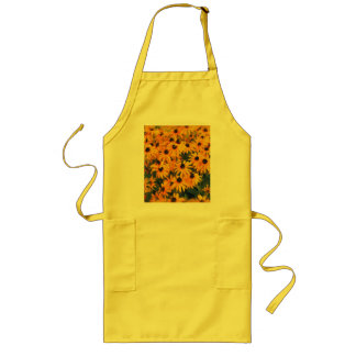 Yellow Daisies Flower-lovers Floral Art Long Apron