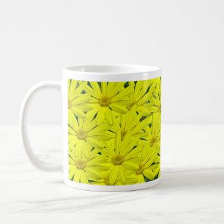 yellow daisies classic white coffee mug