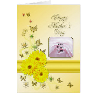 Yellow daisies Photo Card for Mother's day