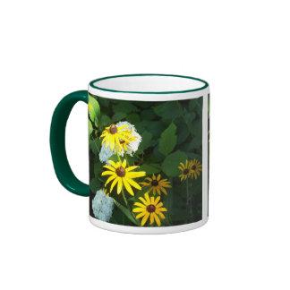 Yellow Daisies Ringer Mug