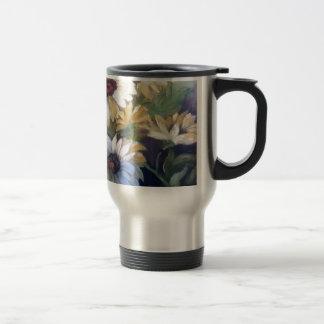 Yellow daisies stainless steel travel mug