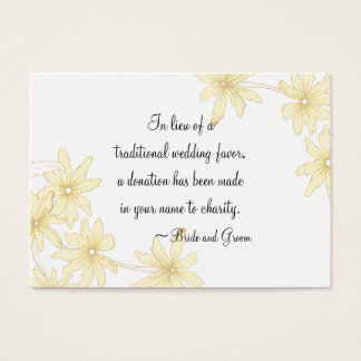 Yellow Daisies Wedding Charity Card