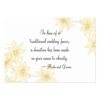 Yellow Daisies Wedding Charity Card Pack Of Chubby Business Cards