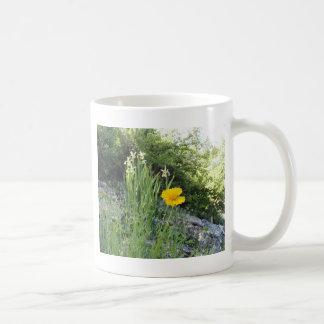Yellow Daisy And White Irises Coffee Mug