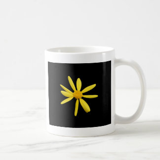 yellow daisy basic white mug