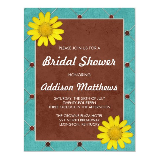 Yellow Daisy Bridal Shower Card