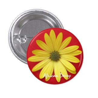 Yellow Daisy Button/Pin 3 Cm Round Badge