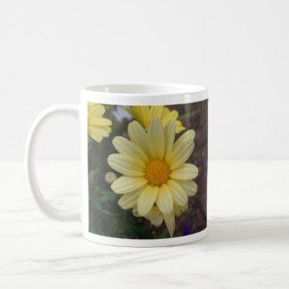 Yellow daisy cup basic white mug