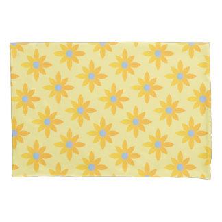 Yellow daisy design pillowcase