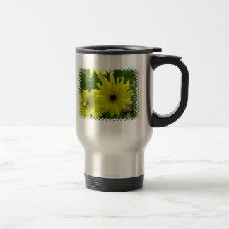 Yellow Daisy Festival Stainless Travel Mug