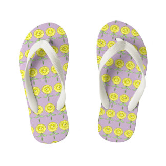Yellow Daisy Flip Flops Adults and Kids