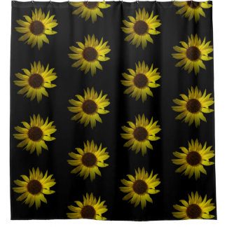 Yellow Daisy Flower accent Shower Curtain