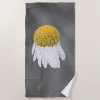 Yellow daisy flower beach towel