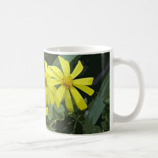 Yellow daisy flower coffee mug