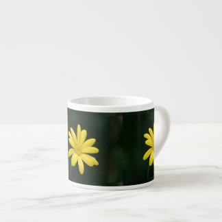 Yellow Daisy flower Espresso Mug