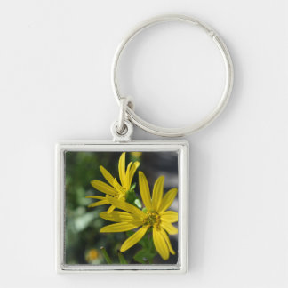 Yellow Daisy Flower Floral Nature Photography Key Ring
